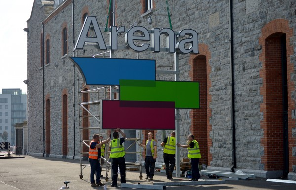 3 Arena Entrance Buil-up Sign Lightbox LED Installation2