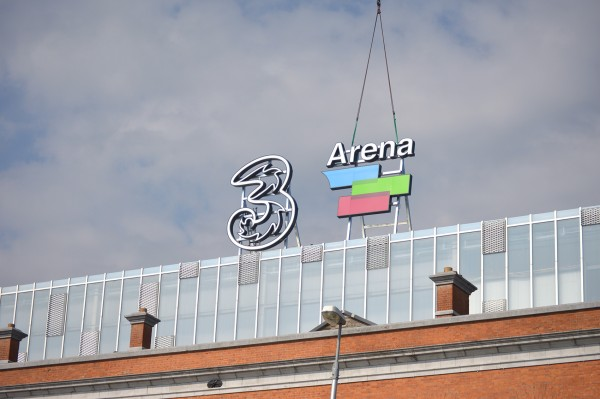 3 Arena Entrance Buil-up Sign Lightbox LED Installation4