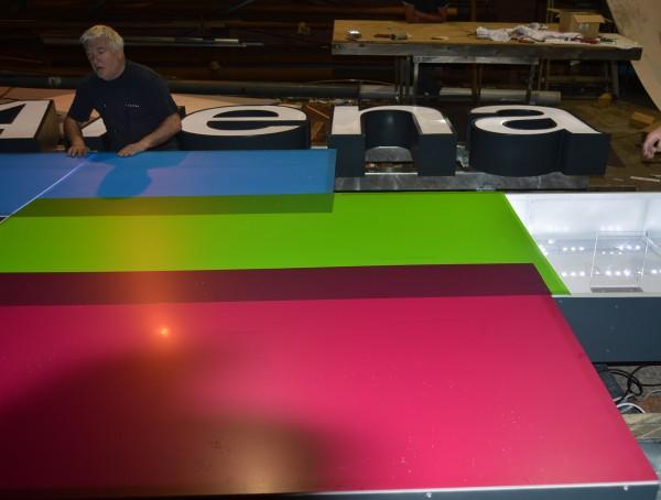 3 Arena Entrance Buil-up Sign Lightbox LED Manufacture