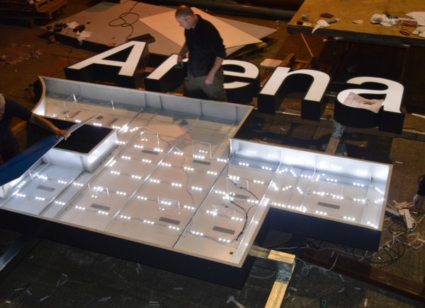 3 Arena Entrance Buil-up Sign Lightbox LED Manufacture2