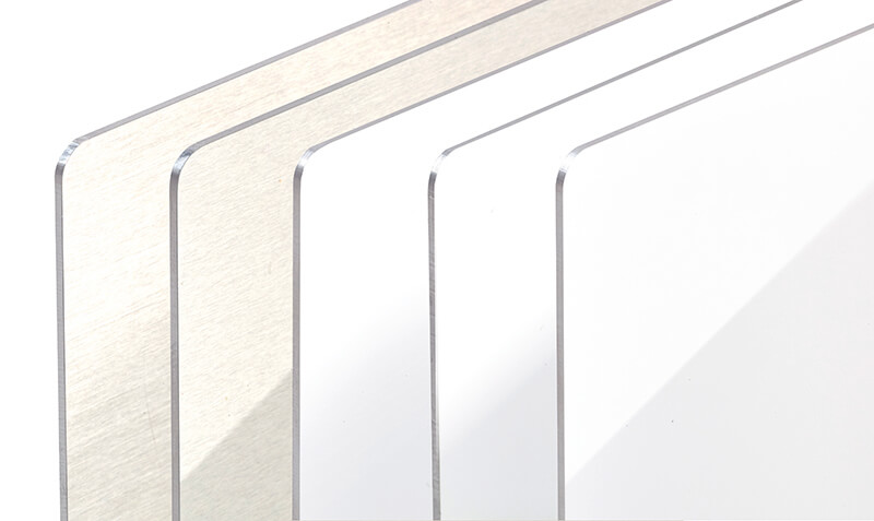 Chromaluxe Aluminium Panels showing the range of different gloss and matte options available