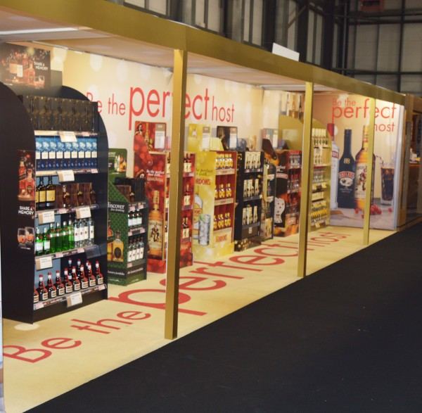Diageo Fabric Exhibition Stand
