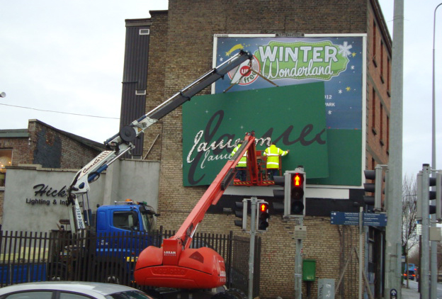 Jameson Billboards Bespoke Manufacture installation