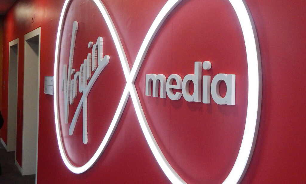 Virgin Media LED Sign