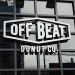 External signage at the front of Offbeat Donuts Shop