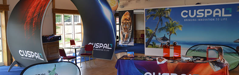 Trade Show that Cuspal Hosted showing all of the new fabric printing solutions available