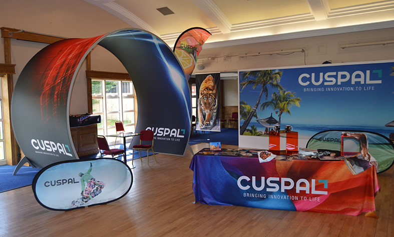 Cuspal hosted a tradeshow in 2015 that displayed all of the new and upcoming fabric printing solutions that we offer
