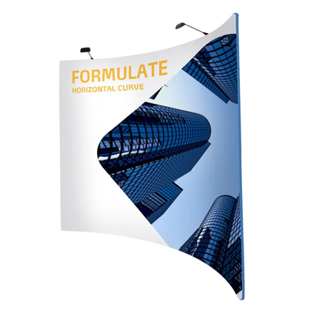 Sample Formulate dye sublimated fabric stand freestanding